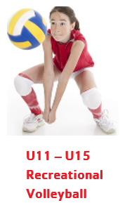 U11-U15 Recreational Volleyball