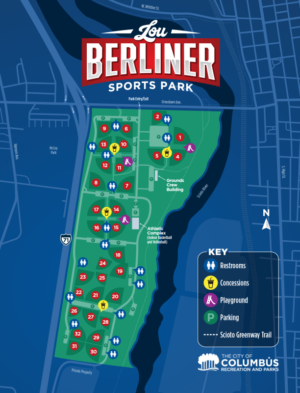 Lou Berliner Sports Park Map
