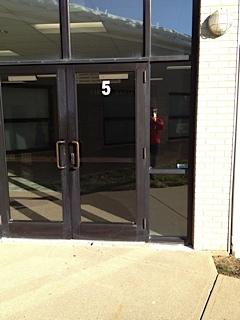 Far right door of